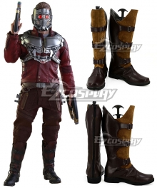 Marvel Guardians of the Galaxy Star-Lord Peter Jason Quill Brown Shoes Cosplay Boots