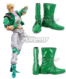 JoJo's Bizarre Adventure Caesar Anthonio Zeppeli Green Shoes Cosplay Boots