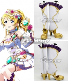 Love Live! Eli Ayase Ellie White Shoes Cosplay Boots