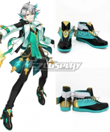 Elsword Erbluhen Emotion Blue Shoes Cosplay Boots