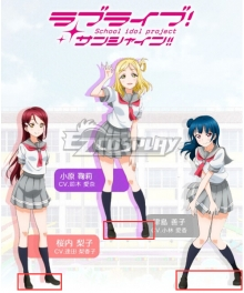 Love Live! Sunshine!! Riko Sakurauchi Yoshiko Tsushima Mari Ohara School Uniform Black or Brown Cosplay Shoes