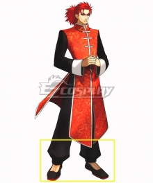 Fate EXTRA Last Encore Li Shuwen Stage 2 Black Cosplay Shoes