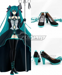 Vocaloid Hatsune Miku Synchronicity Black Cosplay Shoes