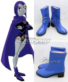 DC Teen Titans Season Raven Pride Rachel Roth Blue Shoes Cosplay Boots