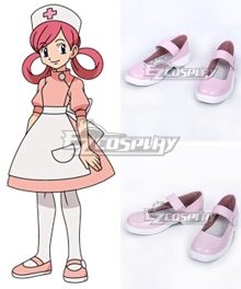 Pokémon Nurse Joy Pink Cosplay Shoes