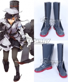 Kantai Collection Gangut Oktyabrskaya Revolutsiya Black Shoes Cosplay Boots