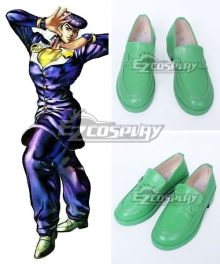 JoJo's Bizarre Adventure: Diamond Is Unbreakable Josuke Higashikata Green Cosplay Shoes