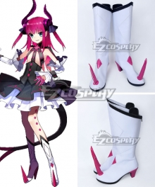 Fate EXTRA CCC Fate Grand Order Lancer Elizabeth Bathory White Shoes Cosplay Boots