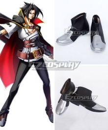 BlazBlue: Calamity Trigger Kagura Mutsuki Black and Gray Shoes Cosplay Boots