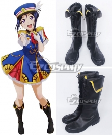 LoveLive! Sunshine!! Aqours Kanan Matsuura You Watanabe Happy Party Train Black Shoes Cosplay Boots