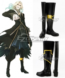 Fate Apocrypha Lancer of Black Vlad III Black Shoes Cosplay Boots
