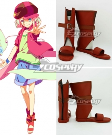 No Game No Life Tet Brown Shoes Cosplay Boots