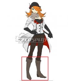 RWBY Roman Torchwick Female Version Brown Shoes Cosplay Boots
