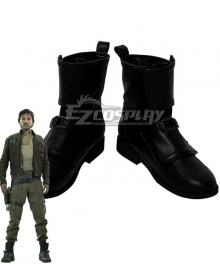 Rogue One: A Star Wars Story Captain Cassian Andor Black Shoes Cosplay Boots
