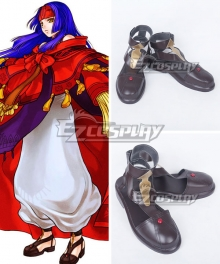 Fire Emblem: Radiant Dawn Sanaki Kirsch Altina Sanaki Kirushu Orutina Dark Brown Cosplay Shoes