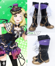 LoveLive!Sunshine!! Ohara Mari Black Shoes Cosplay Boots