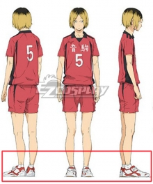 Haikyu!! Haikyuu!! Second Season Nekoma High Kenma Kozume White Cosplay Shoes