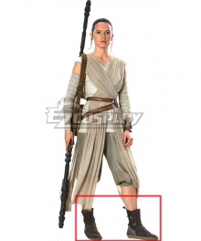 Star Wars: The Force Awakens Rey Deep Brown Shoes Cosplay Boots