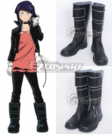 My Hero Academia Boku no Hero Akademia Kyouka Jirou Black Shoes Cosplay Boots
