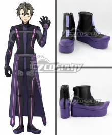 Sword Art Online Ordinal Scale Eiji Movie Purple Shoes Cosplay Boots