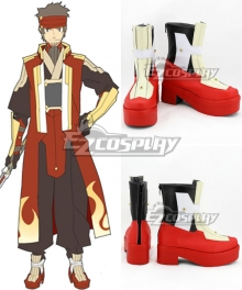 Sword Art Online Ordinal Scale Klein Ryoutarou Tsuboi Movie Red Shoes Cosplay Boots