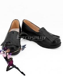 Persona 5 Noir Haru Okumura Black Cosplay Shoes