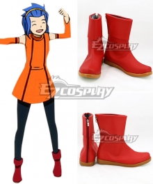 Fairy Tail Levy Mcgarden Red Shoes Cosplay Boots