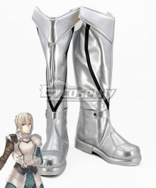 Fate Grand Order Saber Bedivere White Shoes Cosplay Boots
