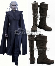 Game of Thrones Season 7 Daenerys Targaryen Brown Shoes Cosplay Boots