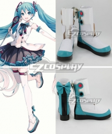 Vocaloid Hatsune Miku Magical Mirai 2017 White Shoes Cosplay Boots