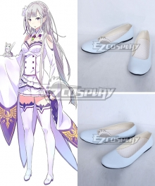 Re: Life In A Different World From Zero Emilia White Cosplay Shoes