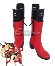 Fate Grand Order EXTELLA Apocrypha Joan of Arc Racing Red Shoes Cosplay Boots