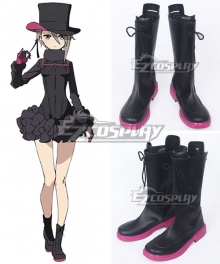 Princess Principal Angie Black Shoes Cosplay Boots