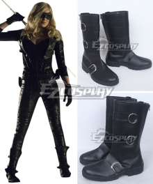 DC Comics Green Arrow Sara Lance Black Shoes Cosplay Boots