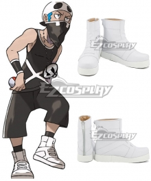 Pokemon Sun and Moon Team Skull Grunts Male Female White Cosplay Shoes
