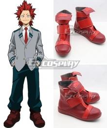 My Hero Academia Boku no Hero Akademia Eijirou Kirishima Uniform Red Cosplay Shoes