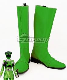 Uchuu Sentai Kyuranger Chameleon Green Hammie Green Shoes Cosplay Boots