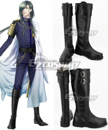 Touken Ranbu Nikkari Aoe Black Shoes Cosplay Boots