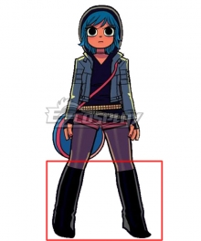 Scott Pilgrim vs. the World Ramona Flowers Black Shoes Cosplay Boots