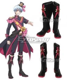 Cute High Earth Defense Club Love! Salty Sol Haruhiko Beppu Black Shoes Cosplay Boots