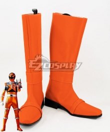 Uchuu Sentai Kyuranger Sasori Orange Stinger Orange Shoes Cosplay Boots