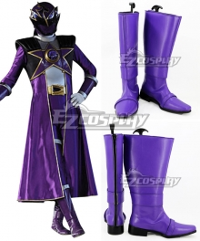 Uchuu Sentai Kyuranger Ryu Commander Shou Ronpo Purple Shoes Cosplay Boots