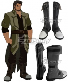 RWBY Volume 4 Hazel Rainart Brown Shoes Cosplay Boots