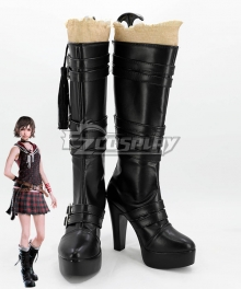 Final Fantasy XV Iris Amicitia New Black Shoes Cosplay Boots