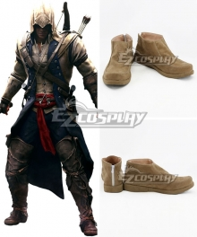 Assassin's Creed III Connor Brown Cosplay Shoes