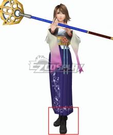 Final Fantasy X FF10 Yuna Black Shoes Cosplay Boots