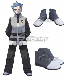 Pokemon Galactic Boss Cyrus Grey Cosplay Shoes