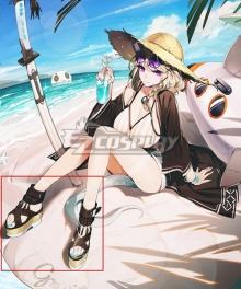 Arknights Utage CoralCoast FA661 Black Cosplay Shoes