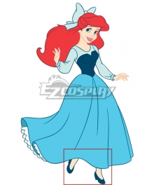 Disney The Little Mermaid Ariel Princess Blue Cosplay Shoes