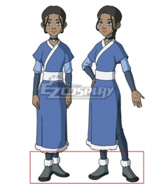 Avatar: The Last Airbender Katara New Edition Gray Cosplay Shoes